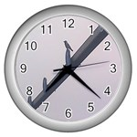 The traffic guide craw - Wall Clock (Silver)