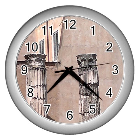 The Roman Time By Riksu   Wall Clock (silver)   N5kut0s809jh   Www Artscow Com Front