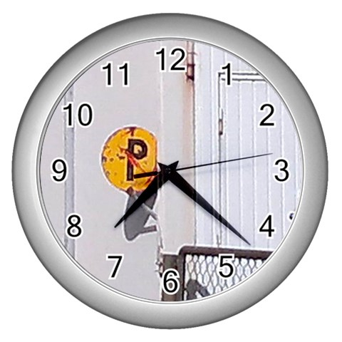 An Old Sign By Riksu   Wall Clock (silver)   Mmufwzc80slr   Www Artscow Com Front