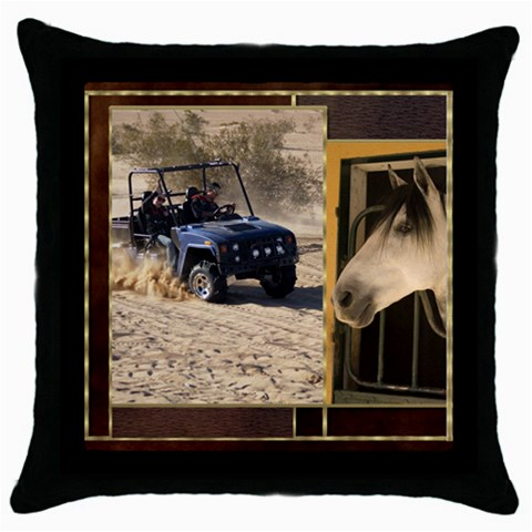 Country Dreaming 2 By Deborah   Throw Pillow Case (black)   Ane346vlquhr   Www Artscow Com Front