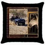 Country Dreaming 2 - Throw Pillow Case (Black)