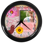 mothers day - Wall Clock (Black)