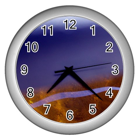 Water Clock By Riksu   Wall Clock (silver)   Nqm3h9qdupk0   Www Artscow Com Front