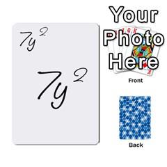 Algebra Rummy By Tracy Jarman   Playing Cards 54 Designs   1msaxqb18ruk   Www Artscow Com Front - Club8
