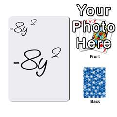 Algebra Rummy By Tracy Jarman   Playing Cards 54 Designs   1msaxqb18ruk   Www Artscow Com Front - Club9