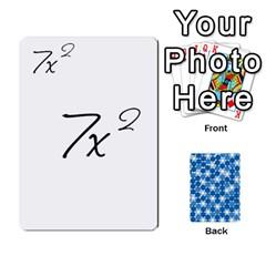Algebra Rummy By Tracy Jarman   Playing Cards 54 Designs   1msaxqb18ruk   Www Artscow Com Front - Spade8