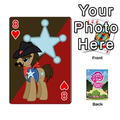 Mlp Playing Cards By Raymond Zhuang   Playing Cards 54 Designs   Vfvcn4uqo34e   Www Artscow Com Front - Heart8