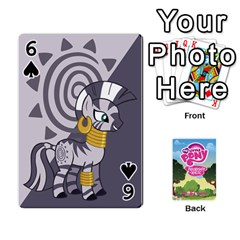 Mlp Playing Cards By Raymond Zhuang   Playing Cards 54 Designs   Vfvcn4uqo34e   Www Artscow Com Front - Spade6