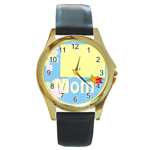 Mother s Day By Jacob   Round Gold Metal Watch   8pu5ez1zunmr   Www Artscow Com Front