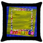 easter pillow 2 - Throw Pillow Case (Black)
