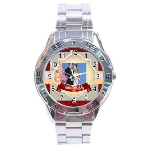 Wedding Day By Joely   Stainless Steel Analogue Watch   5zlfb9v9jpd4   Www Artscow Com Front