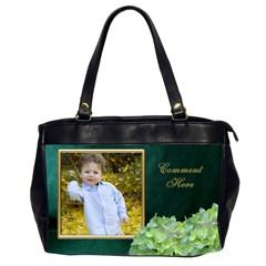 Teal And Gold (2 Side) Oversize Office Bag By Deborah   Oversize Office Handbag (2 Sides)   Km7cipsi7tss   Www Artscow Com Front