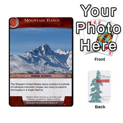Advanced Outdoor Survival Swamp And Mountain Encounter Deck By Michael   Playing Cards 54 Designs   00p1awo92z1v   Www Artscow Com Front - Heart2