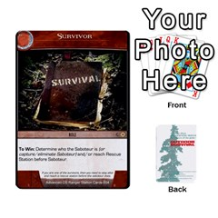 Advanced Outdoor Survival Predators By Michael   Playing Cards 54 Designs   Tn4x273s4afr   Www Artscow Com Front - Club8