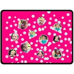 Dots Pink XL Blanket - Fleece Blanket (Large)