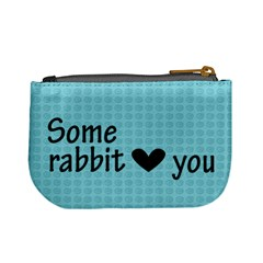 Some Rabbit Love You    Mini Coin Purse By Carmensita   Mini Coin Purse   0hdx1ghuvd1f   Www Artscow Com Back