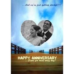 Anniversary Card By Priya   Heart 3d Greeting Card (7x5)   N900ruyb9hts   Www Artscow Com Inside