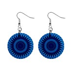 Blue Lagoon 1  Button Earrings