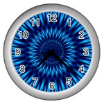 Blue Lagoon Wall Clock (Silver)
