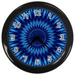 Blue Lagoon Wall Clock (Black)