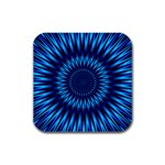 Blue Lagoon Rubber Square Coaster (4 pack)