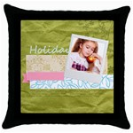holiday - Throw Pillow Case (Black)