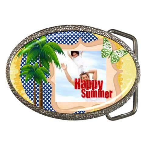 Happy Summer By Joely   Belt Buckle   Asqmuovtpeb1   Www Artscow Com Front