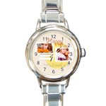 happy day - Round Italian Charm Watch