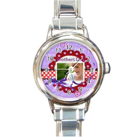 Mothers Day By Joely   Round Italian Charm Watch   R5t8slrwodqz   Www Artscow Com Front