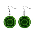 Green Lagoon 1  Button Earrings