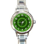 Green Lagoon Round Italian Charm Watch