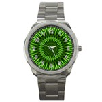 Green Lagoon Sport Metal Watch