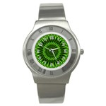 Green Lagoon Stainless Steel Watch