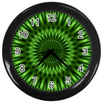 Green Lagoon Wall Clock (Black)