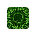 Green Lagoon Rubber Square Coaster (4 pack)