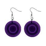 Lilac Lagoon 1  Button Earrings