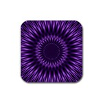 Lilac Lagoon Rubber Square Coaster (4 pack)