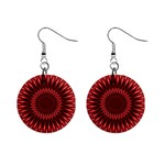 Red Lagoon 1  Button Earrings