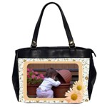 Pretty as a Daisy Oversize Office Bag - Oversize Office Handbag (2 Sides)
