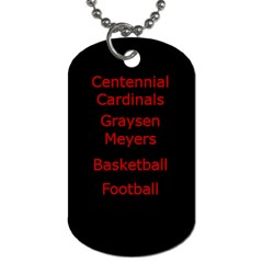 Graysen M 3 By Gary Meyers   Dog Tag (two Sides)   U4dpjrd8zguq   Www Artscow Com Back