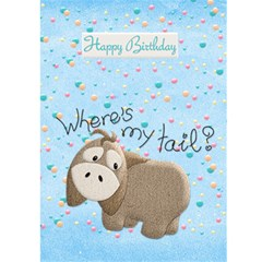 Happy Birthday 5x7 Card A By Snackpackgu   Greeting Card 5  X 7    Hst3kc45mbb4   Www Artscow Com Back Cover