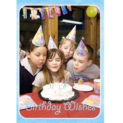 Happy Birthday 5x7 Card A By Snackpackgu   Greeting Card 5  X 7    Hst3kc45mbb4   Www Artscow Com Front Cover
