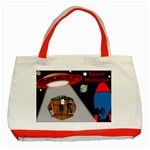 Space Monkeys tote - Classic Tote Bag (Red)