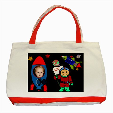 Planet Tote By Deborah   Classic Tote Bag (red)   Cttd3088bcht   Www Artscow Com Front