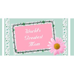 The World Greatest Mom 3d Card By Deborah   Mom 3d Greeting Card (8x4)   1rso35knmrwr   Www Artscow Com Front