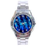 Blue Swirl Stainless Steel Analogue Men's Watch
