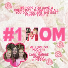 Jan Mom Card By Margie Whiting   #1 Mom 3d Greeting Cards (8x4)   Vemk08aiu0ib   Www Artscow Com Inside