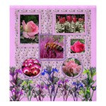 Pink Iris large Shower Curtain - Shower Curtain 66  x 72  (Large)