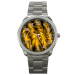 Golden Swirl Sport Metal Watch
