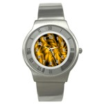 Golden Swirl Stainless Steel Watch